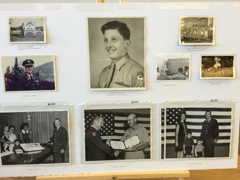 Photos of Don's service