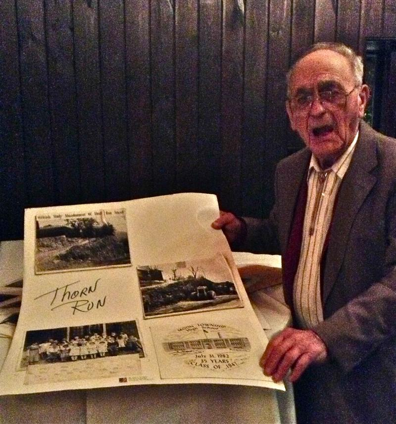 After the meeting was over, many guests visited the huge display of old photographs collected by this well-known fellow to Moon Township residents. Thank you, John Kennedy!