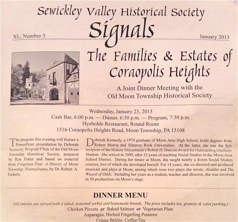 The Sewickley Valley Historical Society's